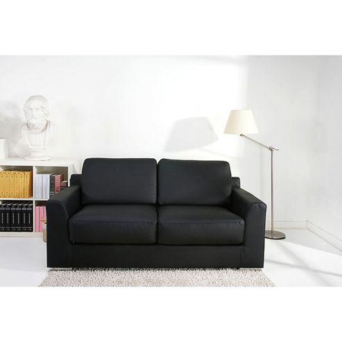 Leader Lifestyle Paris Sofa Bed - Black Faux Leather
