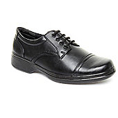Caravelle Mens Black Uphold Lace-up Shoe