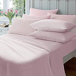 Flannelette Housewife Pillowcase (pair) Pink