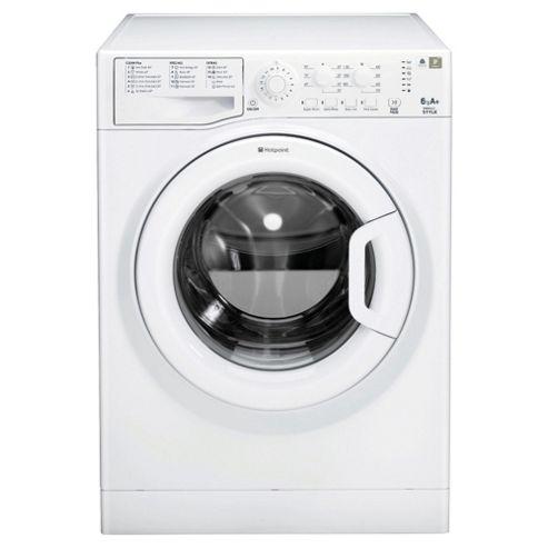 Hotpoint WMSYL621P Washing Machine , 6Kg Load, 1200 RPM Spin, White
