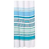 Sabichi Bathroom Essentials Stripe Shower Curtain - Blue