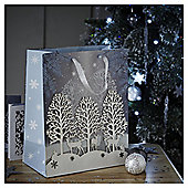 Large Snowy Trees Christmas Gift Bag