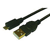 Black USB 2.0 A to Micro B Cable 3m