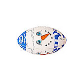 Optimum Christmas Snowman Mini Rugby League Union Ball White