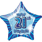 21st 20' Star Foil Balloon (each)