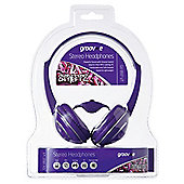 Groov-e GV897/VIOLET Streetz Stereo Headphones with Volume Control - Violet