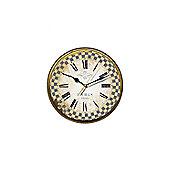 Smith & Taylor Paris 1898 French Blue Check Border Wall Clock