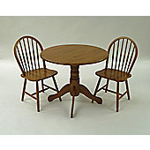 Origin Red Lingfield Rubberwood 3 Piece Dining Set - Maple