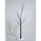 Kaemingk Outdoor LED Xmas Tree with Snow - Cool White - 125cm - 48 Lights