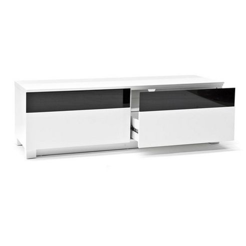 RGE Base 2 Drawers Multi-Media TV Storage and Display Unit - Foil White Oak Structure