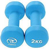 Fitness Mad Neoprene Dumbbells 2KG