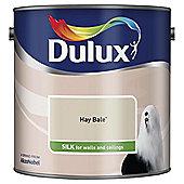 Dulux Silk Emulsion Paint, Hay Bale, 2.5L