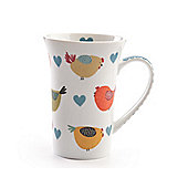 David Mason Design Chirpy Chicks 12.5cm Latte Mug in White
