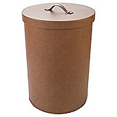 Brown Faux Leather Laundry Bin
