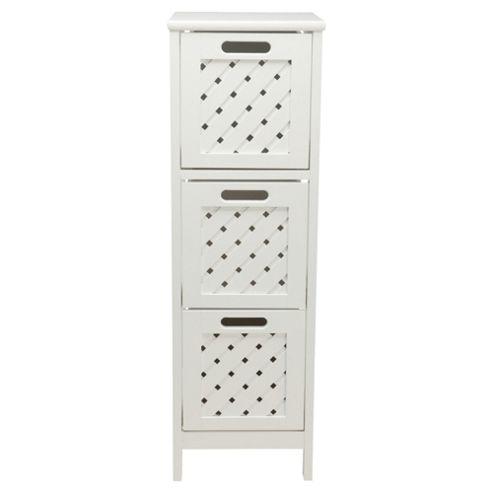 buy sheringham bathroom tower cabinet 3 drawer white