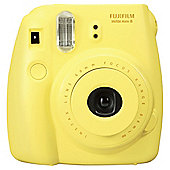 Fuji Instax Mini8 instant Camera, Yellow, 20 shot bundle