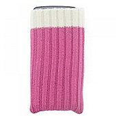 Phone Sock Pink Ribbed T-Mobile