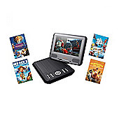 Lava LD826 7 Portable DVD Including 4 Films in Black