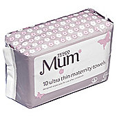 Tesco Ultra Thin maternity Towels x10