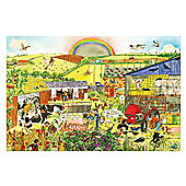 Bigjigs Toys BJ013c Farm Floor Puzzle (96 Piece)