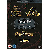 Tim Burton Collection (4 Discs) - The Nightmare Before Christmas, Alice In Wonderland, Frankenweenie, Ed Wood DVD