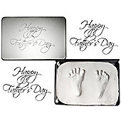 Soft Clay Dough in Fathers Day Tin for Baby Hand & Footprint Imprints