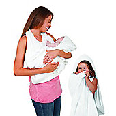 Clevamama XL Baby Bath Splash N Wrap Bath Towel Apron - White
