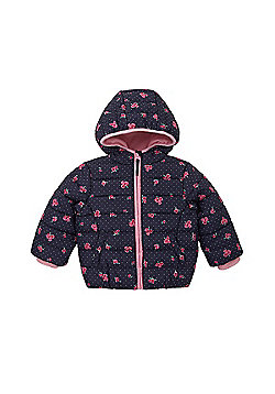 Mothercare Floral Padded Coat Jacket Size 9-12 months
