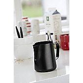 Steel Function Milk Pitcher in Black - 0.60 L, 12 cm H x 11.5 cm W x 9 cm D