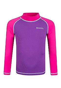 Mountain Warehouse Kids Long Sleeved Rash Vest - Pink