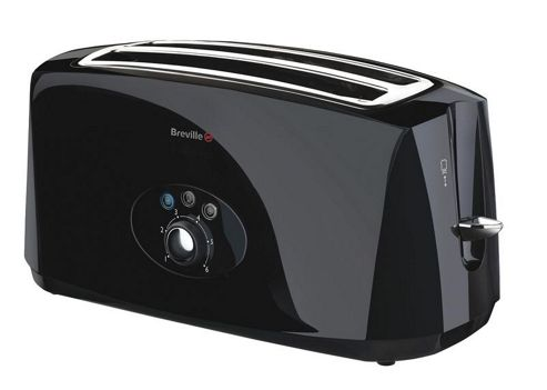 Breville VTT194 Long 4-Slice Toaster - Black