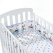 BreathableBaby 4 Sided Mesh Cot Liner By the Sea