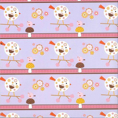 Gift Wrap - Lilac Birds