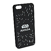 Star Wars Personalised iPhone 5/5s Cover - Star Field - Black