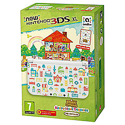 NEW Nintendo 3DS XL HW Animal Crossing: Happy Home Designer Edition + amiibo card