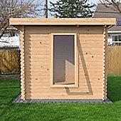 Mercia Garden Products Zen Log Cabin with Double Door - 215 cm H x 430 cm W x 460 cm D