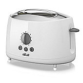 Akai 2 Slice Cool Touch Toaster - White