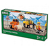 BRIO 33733 Construction Vehicles - Wooden Train Set Accessories