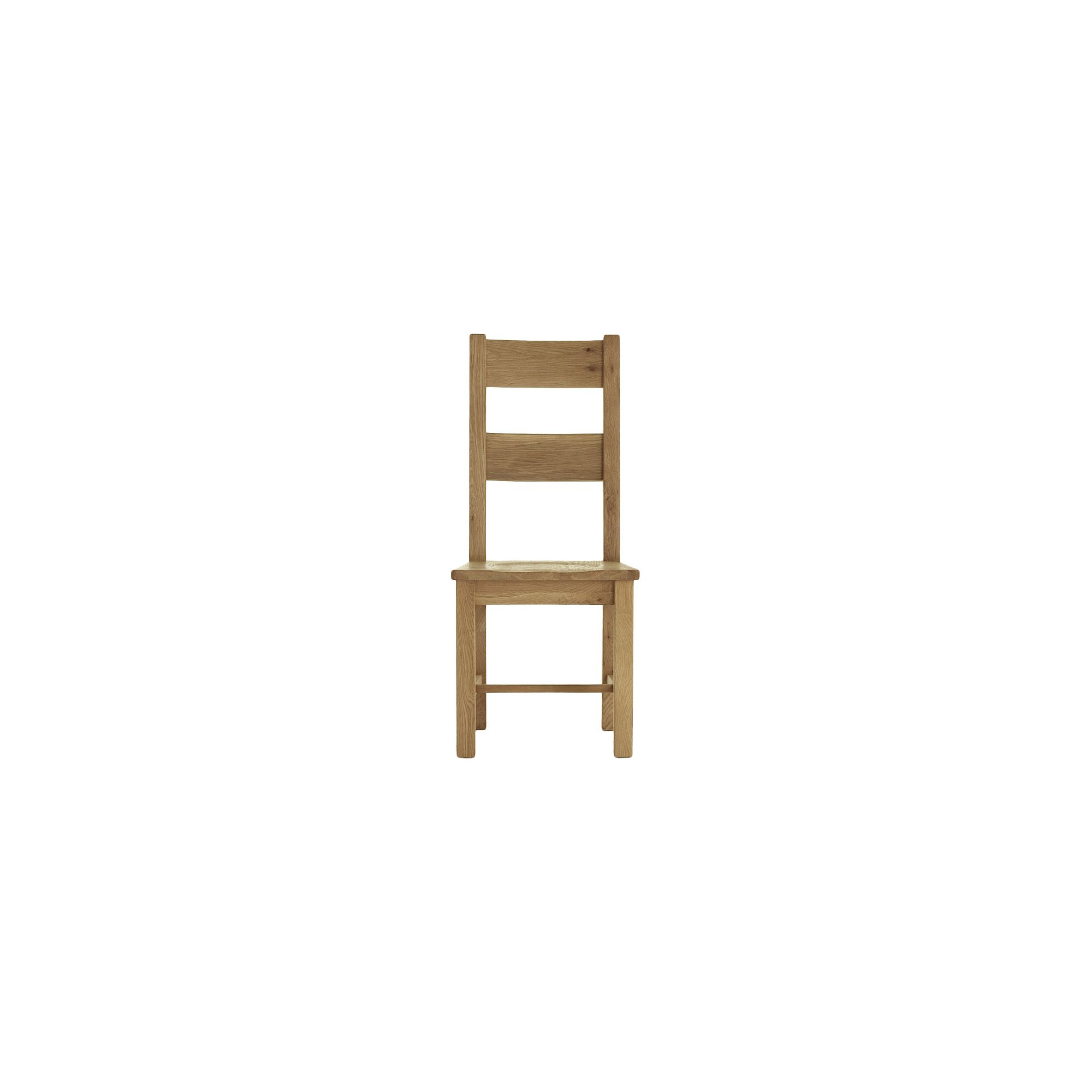 Thorndon Block Dining Chair with Wooden Seat in Natural Matured Oak
