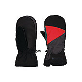 Half Pipe Winter Ski Snowboarding Elasticated Cuffs Gloves Mittens - Black