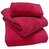 Luxury Egyptian Cotton Bath Towel - Fuchsia
