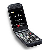 TTfone Venus TT700 Big Button Flip Mobile Phone for the Elderly - Sim Free - Black
