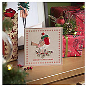 Robin Luxury Christmas Cards, 6 pack