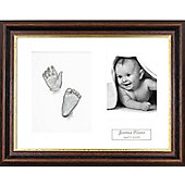 3D Baby Casting Kit - Mahogany Gold trim Frame - Silver Paint