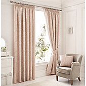 Serene Laurent Rose Lined Curtains - Pink
