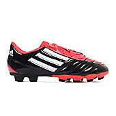 adidas Taqueiro FG Firm Ground Kids Football Boot Black/Red - Black