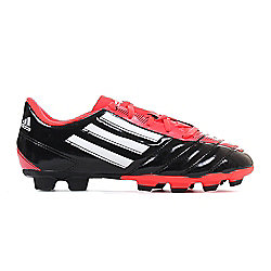 adidas Taqueiro FG Firm Ground Kids Football Boot Black/Red - UK 3