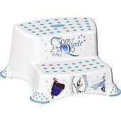Disney Frozen Toddler Toilet Training Double Step Stool - White