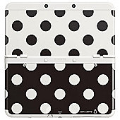 NEW 3DS Coverplate - Black and White Dot
