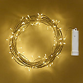 96 Warm White LED Outdoor Battery Fairy Lights